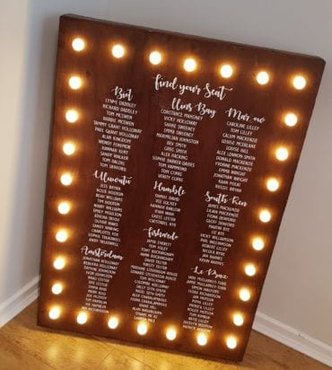 Light Up Table Plan Board